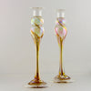 Candlestick Pair - gold iridescent