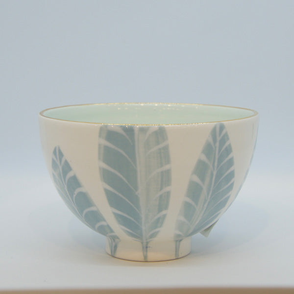 Lt. Blue Feather Cafe au Lait Bowl
