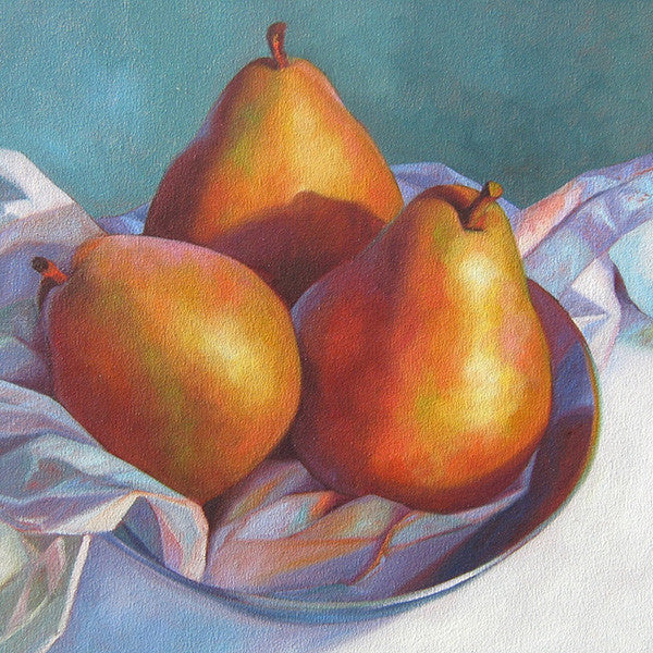 Pears in a Pewter Bowl