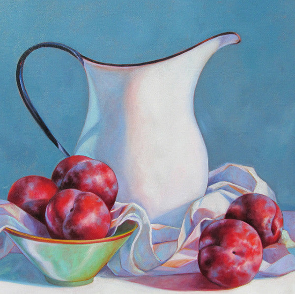 Pitcher with Plums