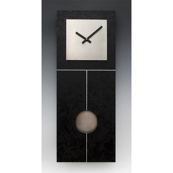 Plain Jane Pendulum Clock - Black & Steel