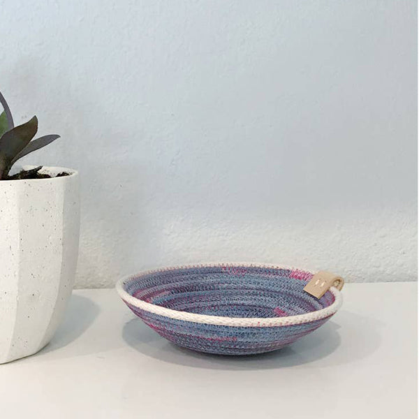 Ring Dish Blue/Berry  5""