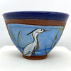 "Egret Bowl - small, by Jennifer Stas, 5"" x 3.5"" back"