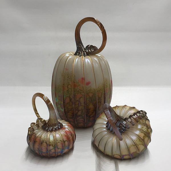 Small Pumpkin Trio - White