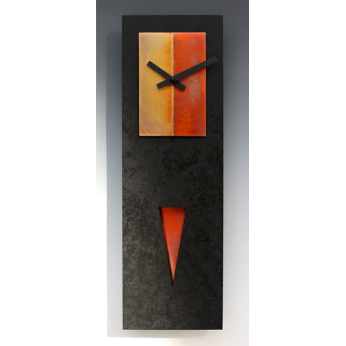 Spike Pendulum Black/Copper Clock