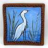 Egret Tile by Jennifer Stas, 5.5""