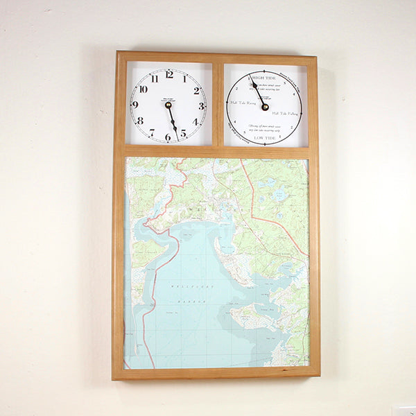 Map Clock with Time and Tide