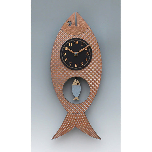 Wanda Fish Clock - Copper