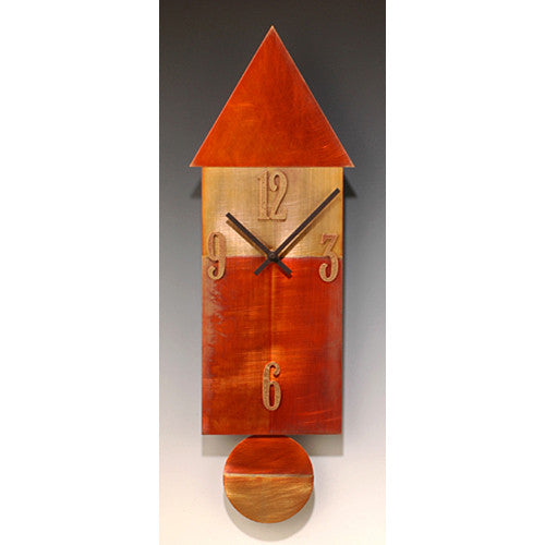 Copper House Pendulum Clock