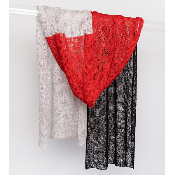 Rayon Scarf - Chrome/Red/Black