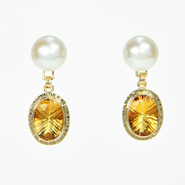 Honey Citrine Earrings