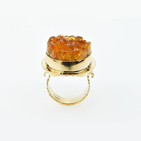Citrine Crystal Ring