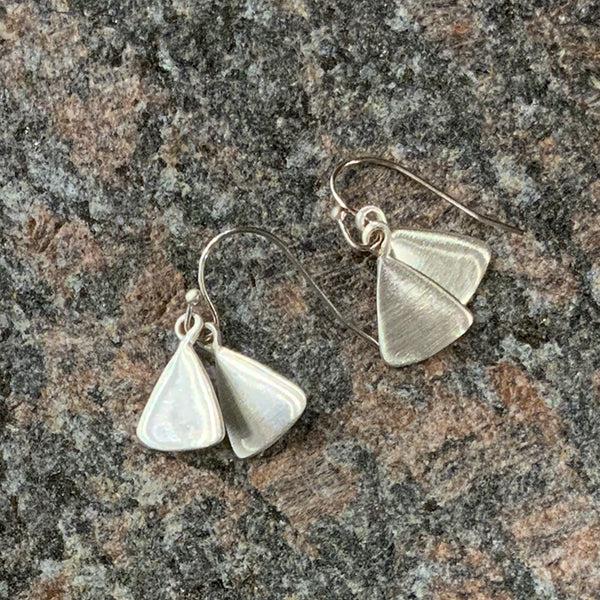 Double Small Leaf Sterling Earrings