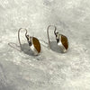 Earrings with Amber Glass