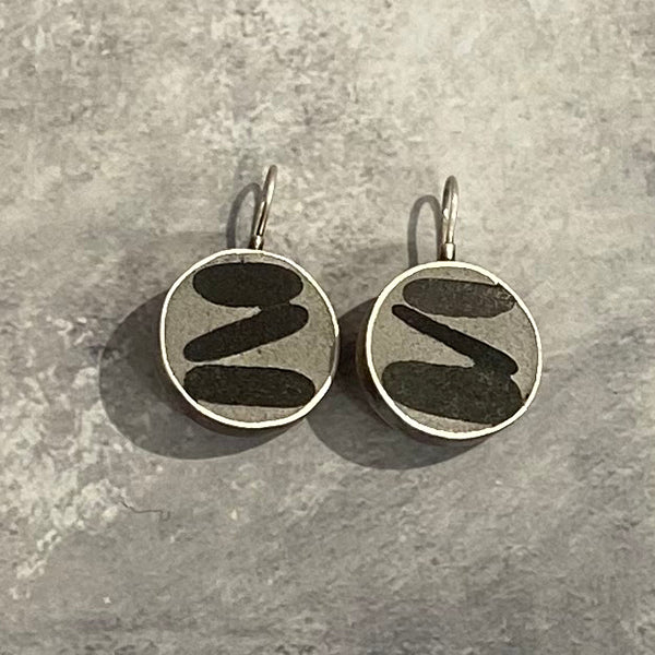 Round Grout Earrings