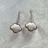 Tiny Enamel Cloud Earrings