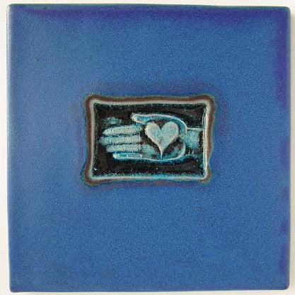 Heart in Hand Tile-Trivet