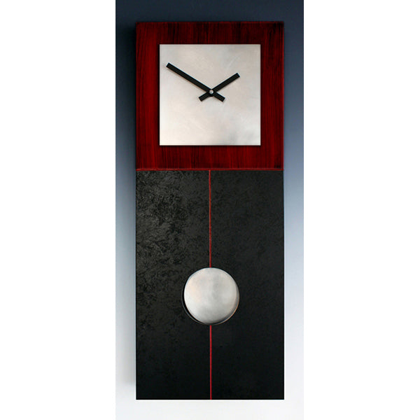 Jane Pendulum Clock - Black & Red