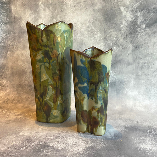 Cloud Vase & Lotus Edge Cylinder Vase