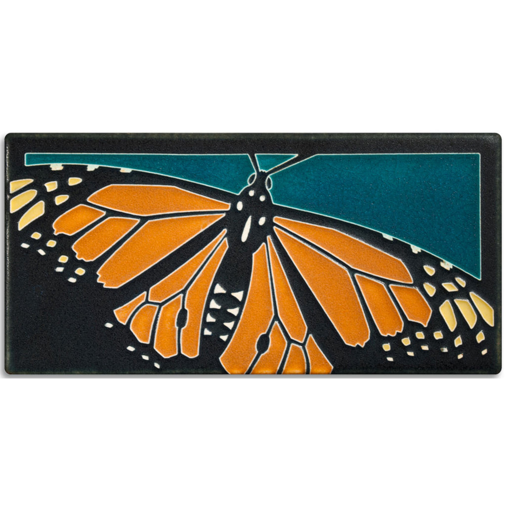 Monarch on turquoise