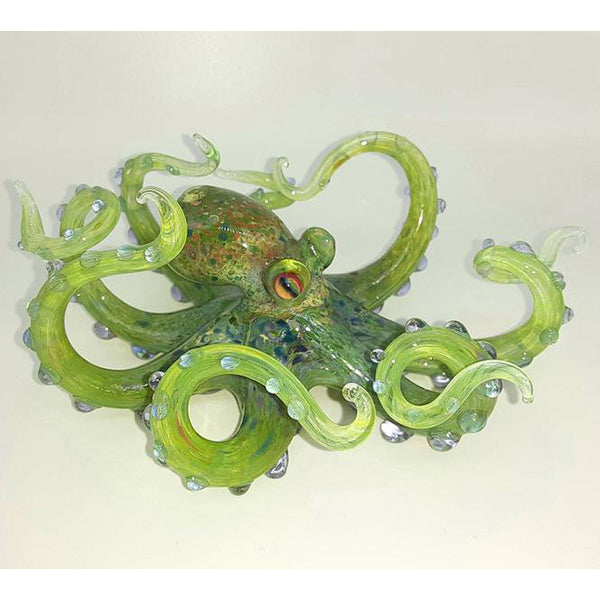 Blown Glass Octopus - Green