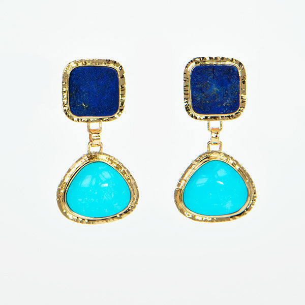 Sleeping Beauty Turquoise & Lapis Earrings
