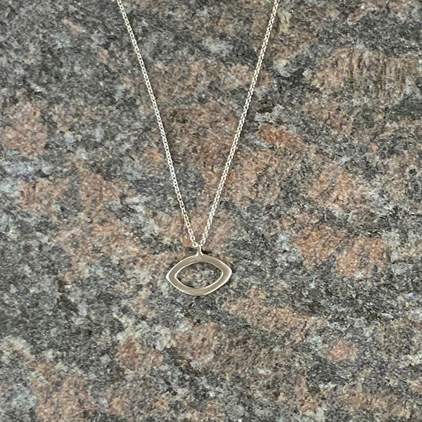 Small Eye Sterling Silver Necklace