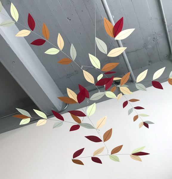 Stylized Leaf Mobile - Subtle Autumn