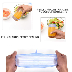 (6 pcs/set) Silicone Stretch Lids(over $30 free shipping)