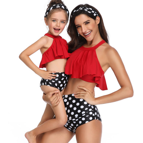 """Spots & Dots"" Mommy and Me Swimwear"