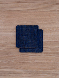 Small Coasters - Persimmon/Indigo (set of 2)