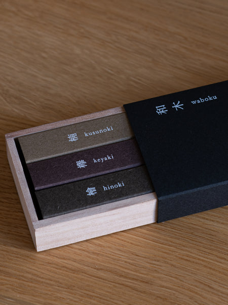 Assorted Waboku Incense Set (Japanese Wooden Scents)