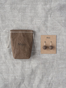 Stoneware Drop Earrings - Circles