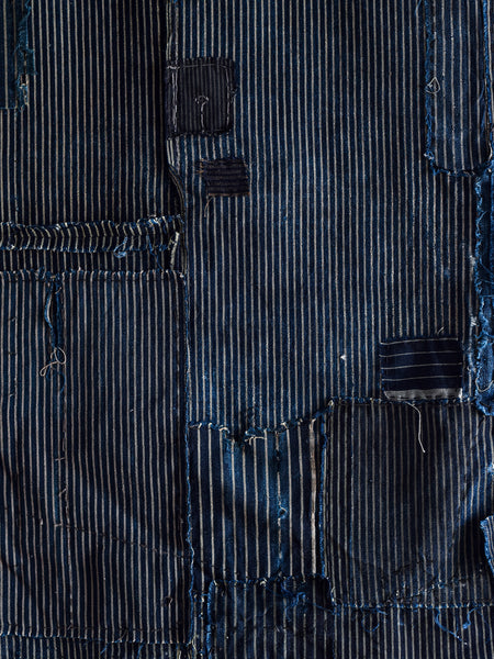 Antique Japanese Textile - Indigo Stripes Small