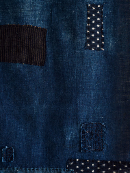 Antique Japanese Textile - Indigo Patched