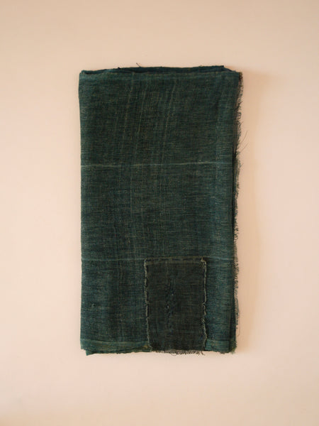 Muted Green Hemp Noren Curtain II