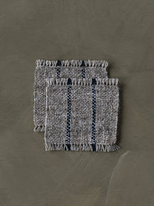 Handwoven Coasters - Natural/Indigo (set of 2)