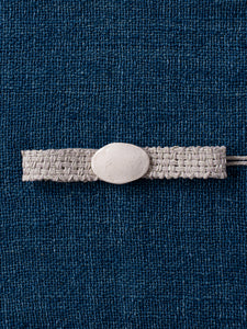 Oval Buckle Collar - Linen