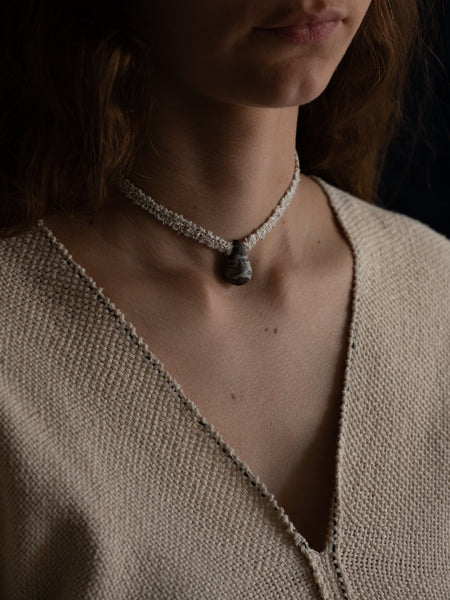 Single Drop Necklace - Linen Hakeme