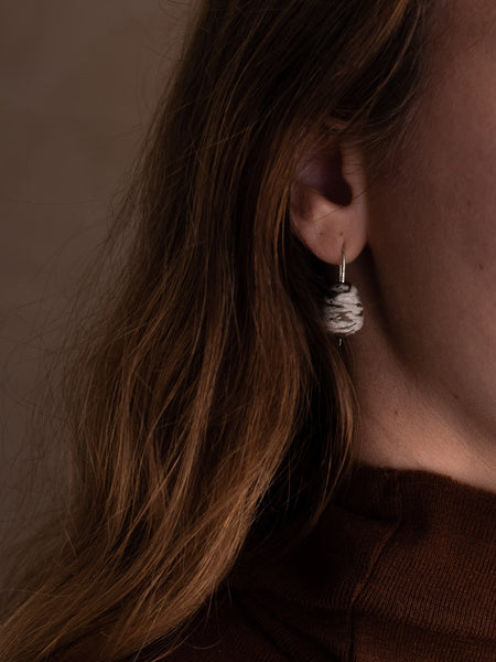 Stoneware Drop Earrings - Hakeme Drops
