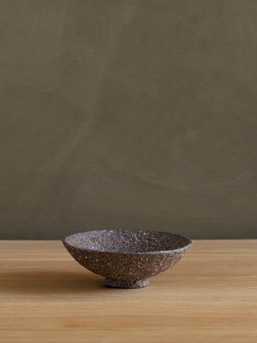 Stoneware Footed Dish - I