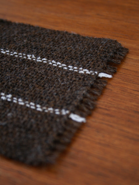 Handwoven Coasters - Brown/Ecru (set of 2)
