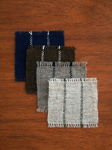 Handwoven Coasters - Indigo/Sand (set of 2)