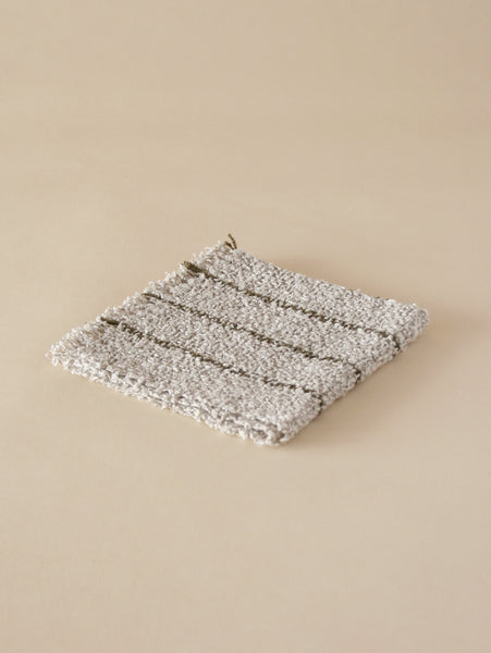 Linen Wash Cloth - Grey/Olive
