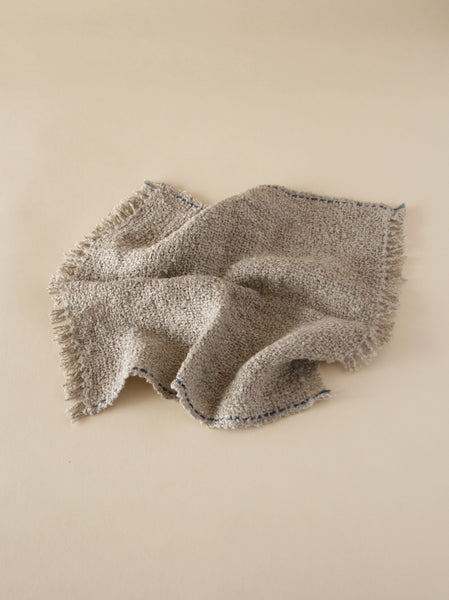 Linen Wash Cloth - Natural/Indigo