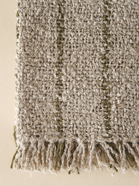 Linen Wash Cloth - Natural/Olive