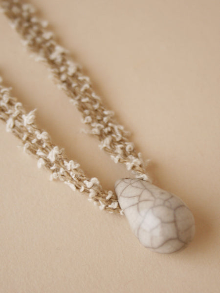 Single Drop Necklace - Sage Curl