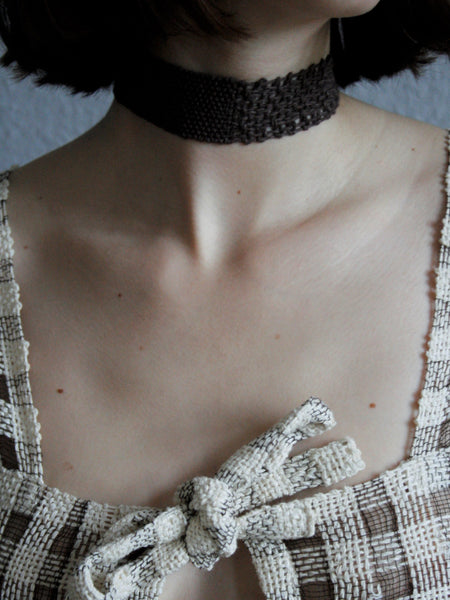 Split Paper Collar - Umber