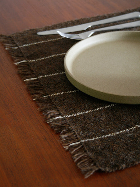 Handwoven Table Mat - Brown/Ecru