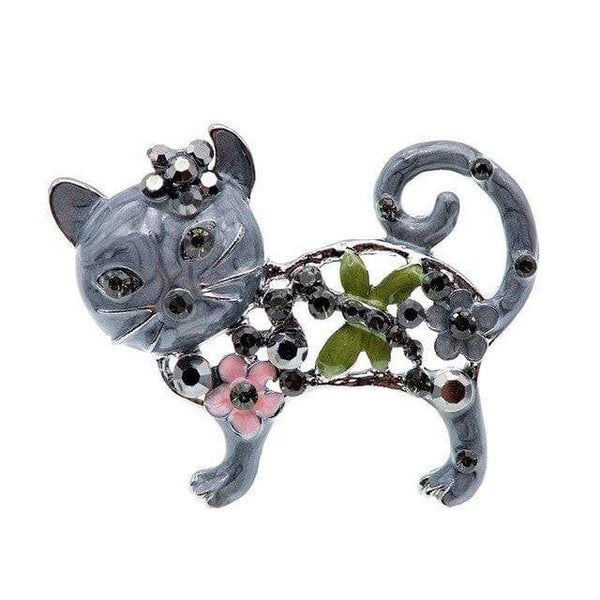 "CINDY XIANG Official Store Broches black Broche ""CHAT STRASS"" ""LE BOULEDOGUE FRANÇAIS""™"